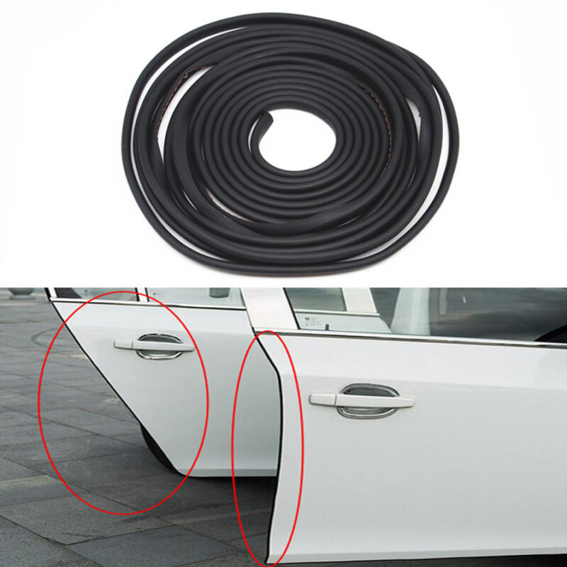 16.5Ft Car Anti-Rub Door Edge Strip Invisible Black Protection Anti-collision