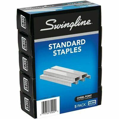 Swingline Standard Staples 14 Length 5000 Per Box Pack Of 5 Us Seller