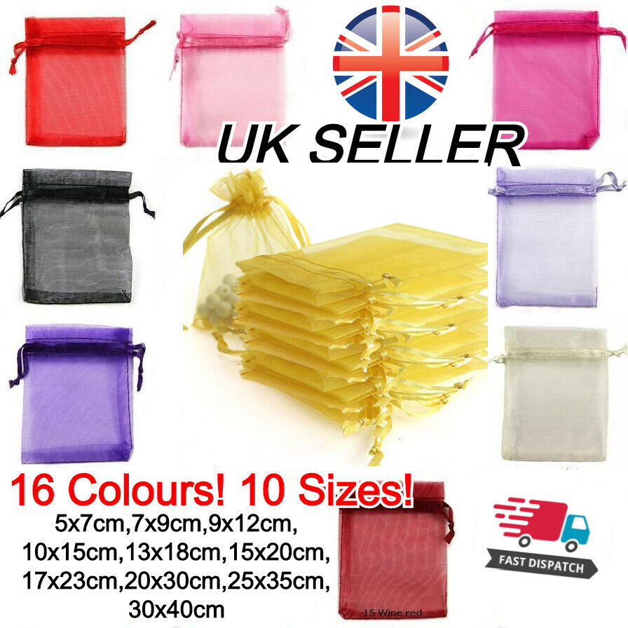 Jewellery - Organza Gift Bags Luxury Jewellery Pouch XMAS Wedding Party Candy Favour