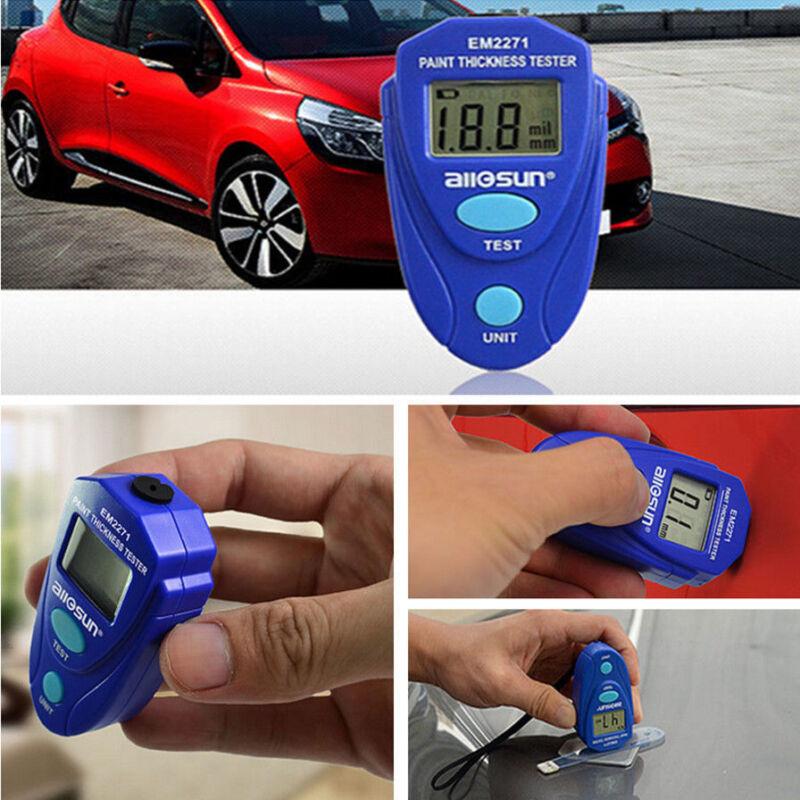 Digital LCD Thickness Gauge Car SUV Coating Paint Measuring Meter Tester Tool