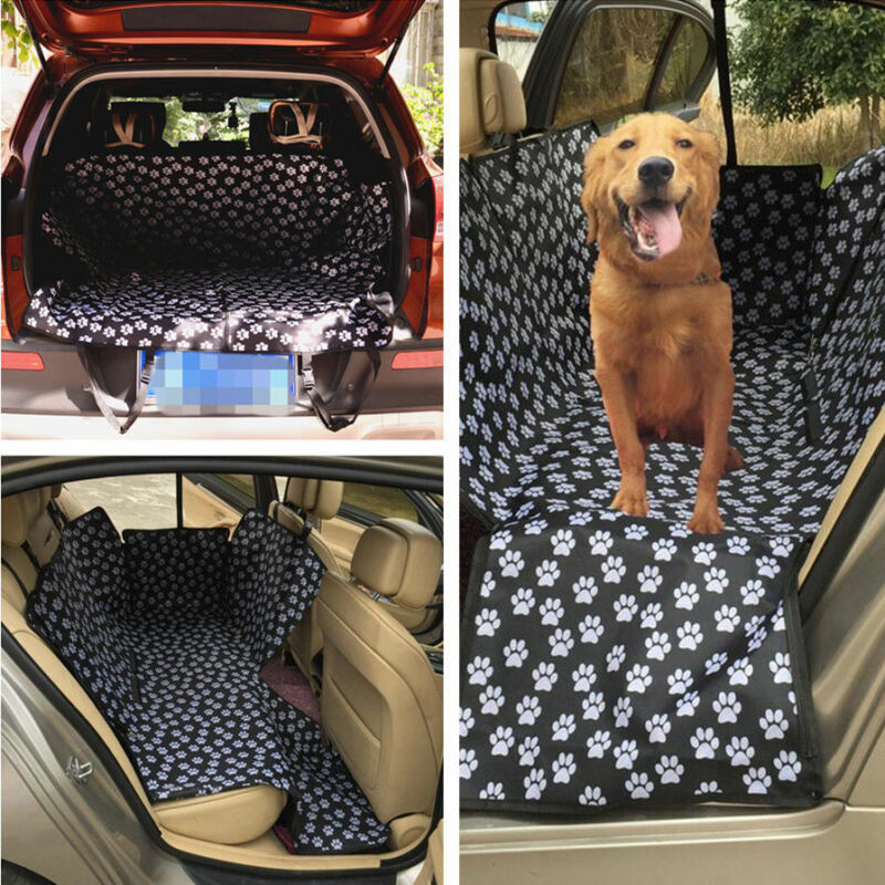 Car Waterproof Pet Dog Cushion Footprint Pad Back Rear Seat Protector Cover Mat