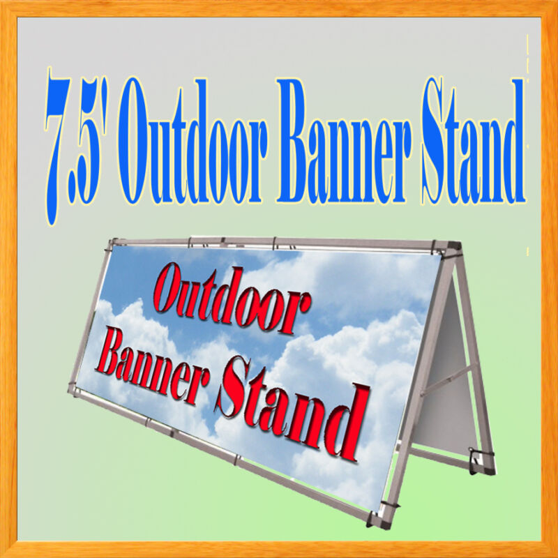 """Aluminum Outdoor A Frame Banner Double Display Stand 79"""" x 33"""" Portable 7"""