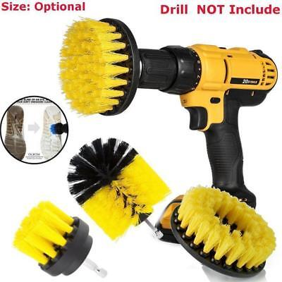 3Pcs Tile Grout Power Scrubber Cleaning Drill Brush Set Tub Cleaner Combo Yellow