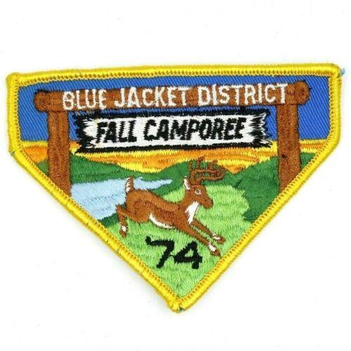 1974 Camporee Blue Jacket District Tecumseh Council Patch Boy Scouts BSA Ohio