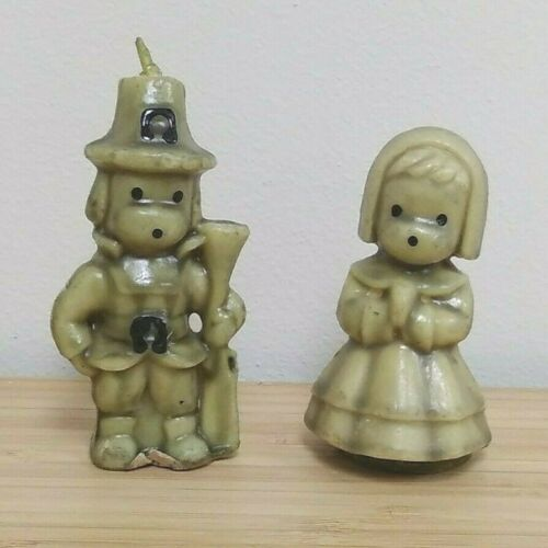 Pilgrim Boy and Girl Gurley Candles Light Green