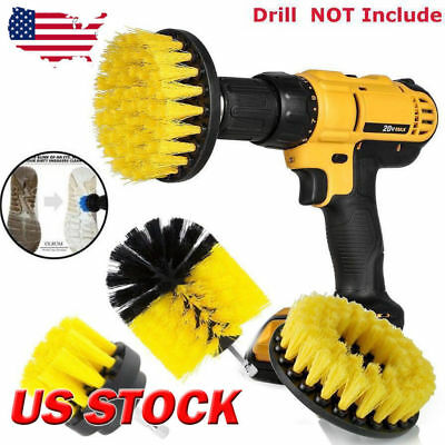 360‎° Turbo Power Scrub Bath Floor & Tile Cleaning Brush Scrubber For Drill Kit
