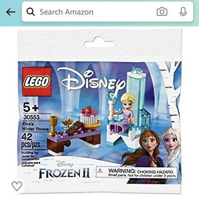 Lego Disney Frozen 2Elsa's Winter Throne Sealed Polybag 1 Minifigure Queen Elsa