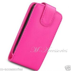 PINK FLIP CASE POUCH FOR SAMSUNG GT-I5500 GALAXY EUROPA