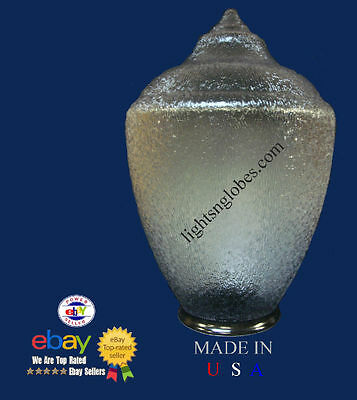 OUTDOOR POST LAMP LIGHT FIXTURE LENS GLOBE CLEAR ACORN POLYCARBONATE REPLACEMENT ()