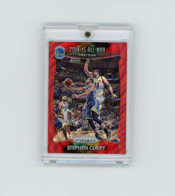 2015-16 Prizm RED WAVE REFRACTOR SP STEPHEN STEPH CURRY /350 GOLDEN ST WARRIORS