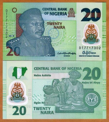 Nigeria, 20 naira, 2018, P-New, POLYMER, UNC