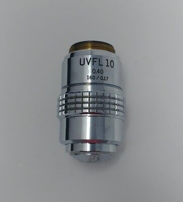 Olympus Microscope Uvfl 10x 0.40 160mm Objective Lens