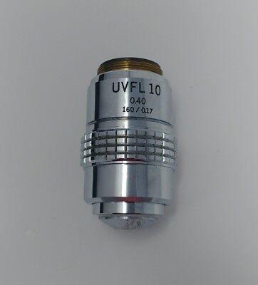 Olympus Microscope Uvfl 10x 0.40 160mm Objective Lens