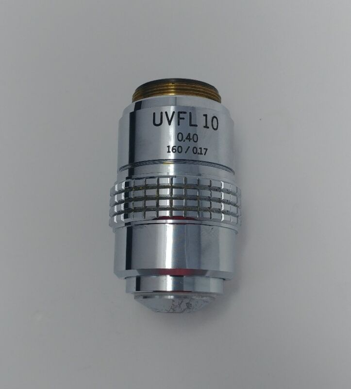 Olympus Microscope UVFL 10x / 0.40 160mm Objective Lens