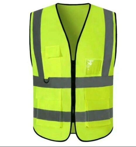 Reflective Safety Work Vest High Visibility W/Pockets & W/O Pockets