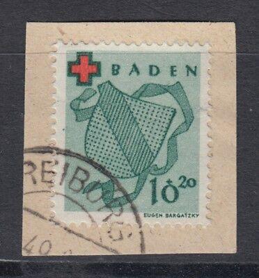 Französische Zone Baden 42 gestempelt geprüft