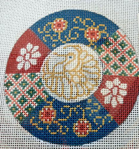 Princely Handpainted Needlepoint Kit, Medallion pattern, KA2307, opened
