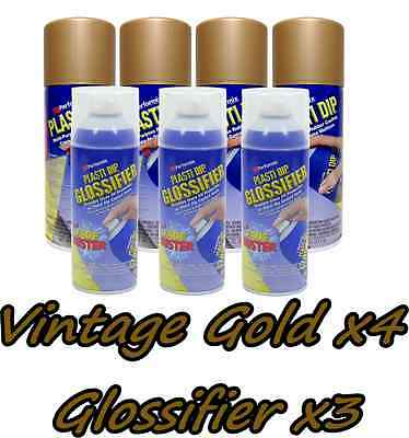 Plasti Dip Gloss Wheel Kit 4 True Metallic Vintage Gold 3 Glossifier Cans