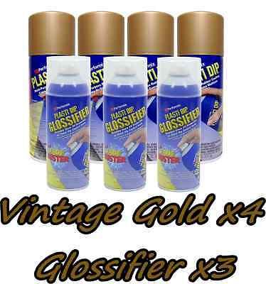 Plasti Dip Gloss Wheel Kit 4 True Metallic Vintage Gold 3 Glossifier Cans