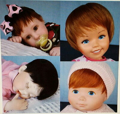 """Get 4 INFANT WIGS 11-12"""" Dk Brown, Red, Lt. Ginger, Auburn. Mix or match colors"""