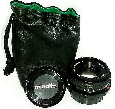 Minolta Md Rokkor X 45Mm 1 2 49Mm 2021538 Carrying Case Tested Works Great