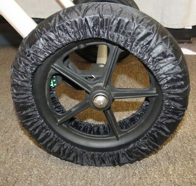 Used, Black Elastic Wheel Tire Cover Protector for iCandy Baby Child Strollers  New for sale  Arvada