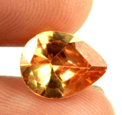 Fast Shipping 4 Ct Brown Axinite Pakistan Gemstone Pear Natural Certified A15646