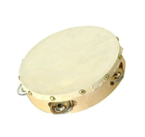 Tambourine Musical Hand Drum Bell Percussion Gift Party Festival US Portable 7