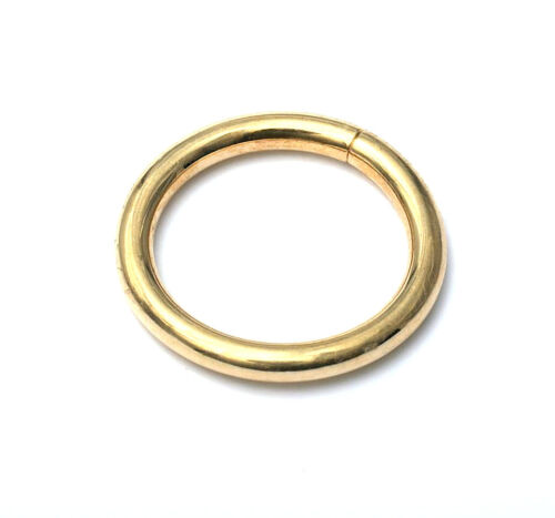 14k Yellow  Solid Gold Seamless Ring Nose ,Lip, Ear, Piercing (18g)