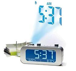 BROOKSTONE TIMESMART SELF-SETTING PROJECTION DIGITAL ALARM CLOCK 2 ALARM SETTING