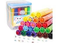 KXF Kids Colouring Marker Pens, 36 Assorted Colours Washable Water Colour (NEW)