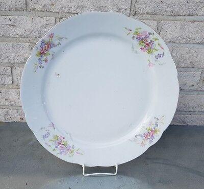 Porzellan Servierplatte Fleischplatte Teller 33,5 cm  Streublumen