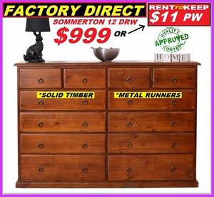 Tallboy Drawers New  12 Drawers Metal Runners $999. RENT $11 PW Ipswich Region Preview