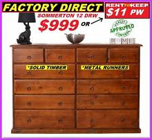 Brand New Tallboy 12 Drawers Solid Timber Metal Runners $999. Ipswich Ipswich City Preview