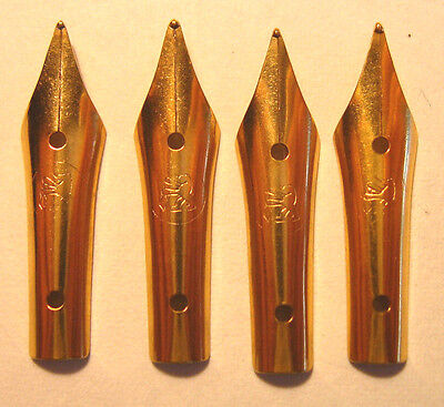 Vintage 4 German  Gold Plated Nib For Fountain Pen 1970 Year /20k on Rummage