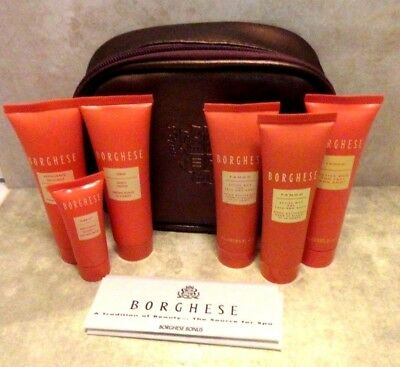 BORGHESE MAKEUP BAG 3 ACTIVE MUD, BODY CREAM, CLEANSER & EYE CREAM -