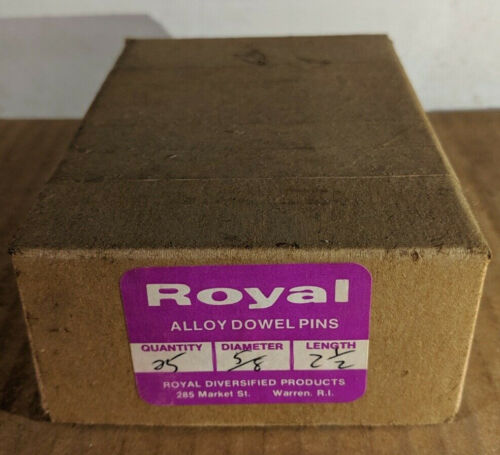 """Pack of 25 - 5/8"""" x 2-1/2"""" Royal Dowel Pins Alloy Steel"""