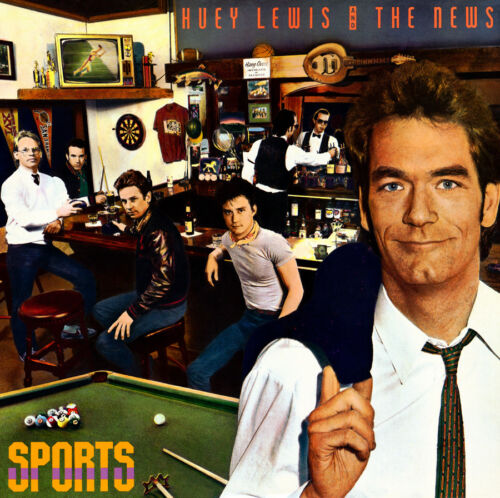 "Album Covers - Huey Lewis and the News - Sports (1983) Album Poster  24""x 24"""