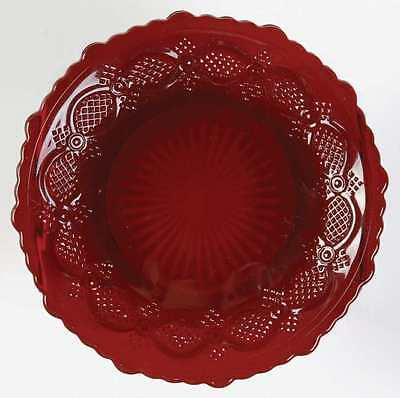 "AVON CAPE COD DINNER PLATE RED RUBY 10 1/2""  VINTAGE 1876"