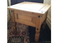 Mexican Pine Side / Lamp Table