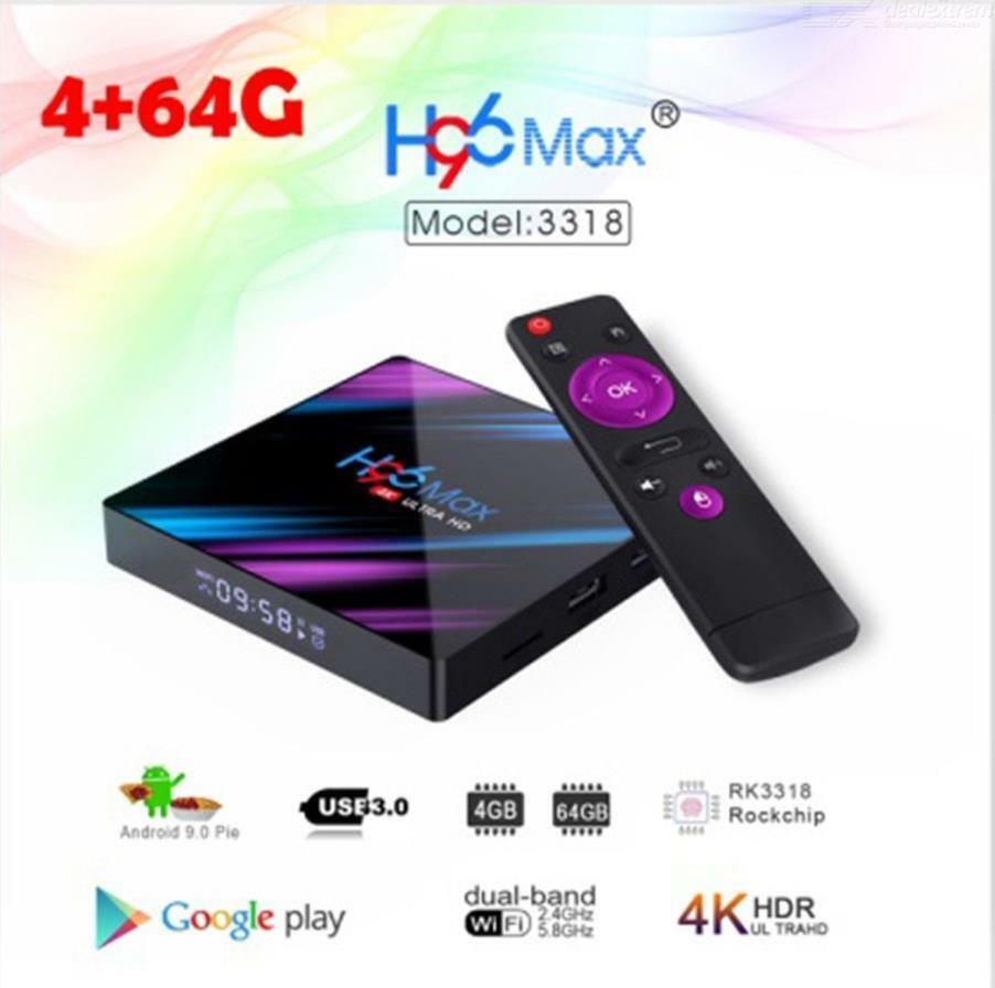 US H96 MAX RK3318 Android 9.0 4GB+64GB Quad Core 4K HD Smart
