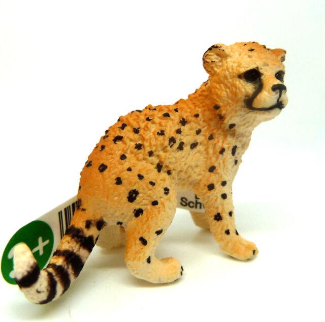 T22) Schleich (14747) Cheetah Cheetah Baby Predator Predator Creeping Animal
