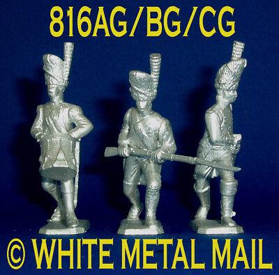 816AG/BG/CG Set 1:32 Napoleonic Conversions; Drummer; Advancing & Drawing Sword