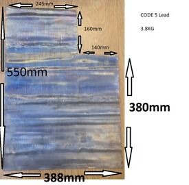 Roofing Lead CODE 5 Approx Size 550mm x 388 mm 3800g
