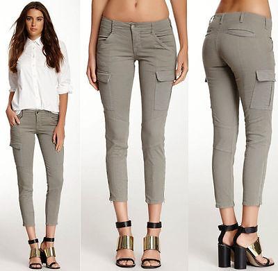 230 Nwt J Brand Jeans For Theory Houlihan Skinny Cargo Vintage Dim Grey 24 25