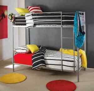 Silver bunk bed no mattresses Warrawong Wollongong Area Preview