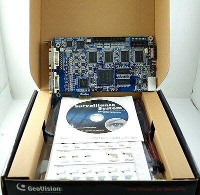 New Genuine Geovision GV-1480A 16 Ch PCI-e DVR CCTV 480FPS V4.30 Capture -