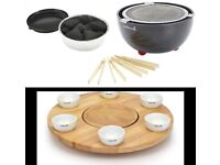 Barbecook cost £200 Joya Table Top Barbecue & rotating table with dip bowls NEW BOXED