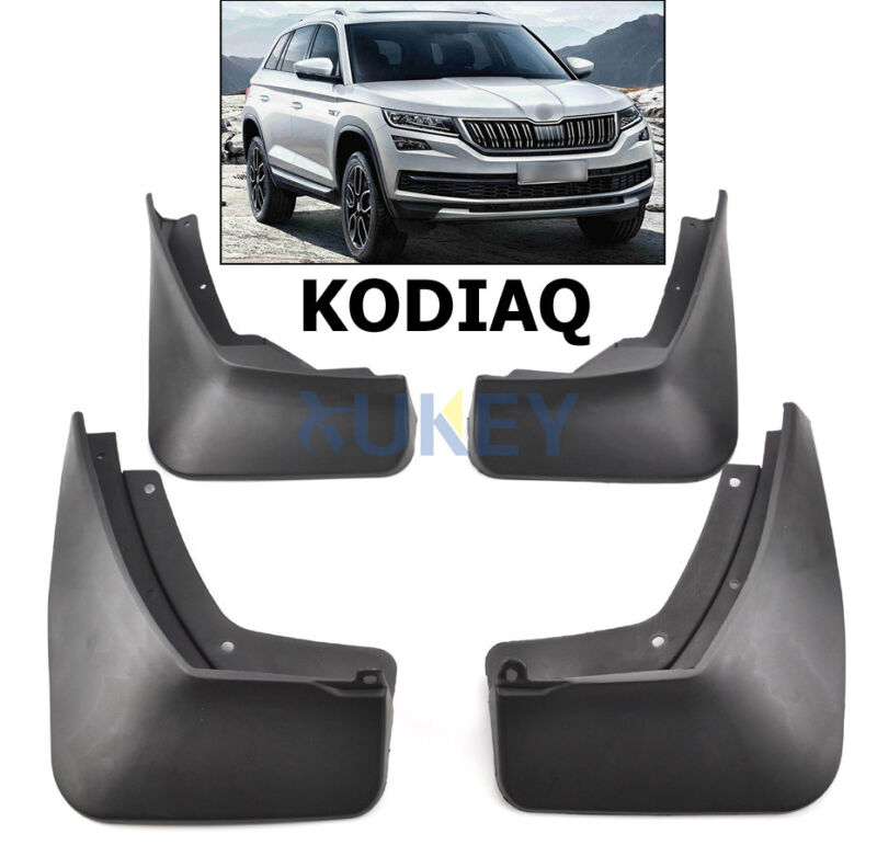 565075111/5101 For Skoda Kodiaq 2017 Front Rear Mud Flaps / Splash Guards 2018