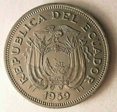 1959 ECUADOR SUCRE - AU - Uncommon Excellent Coin - Lot #A21